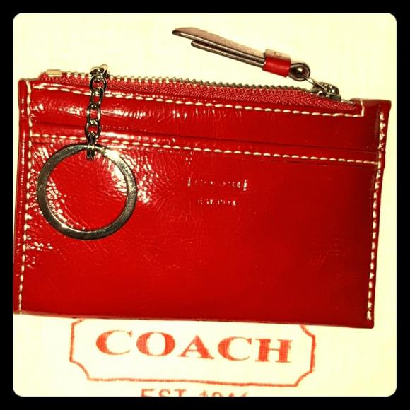Coach Handbags - NWOT Beautiful Red Coach Leatherware Mini Skinny